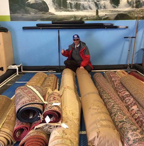 Doug with area rugs